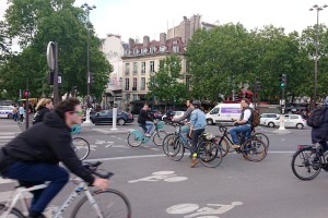 cyclists in Paris