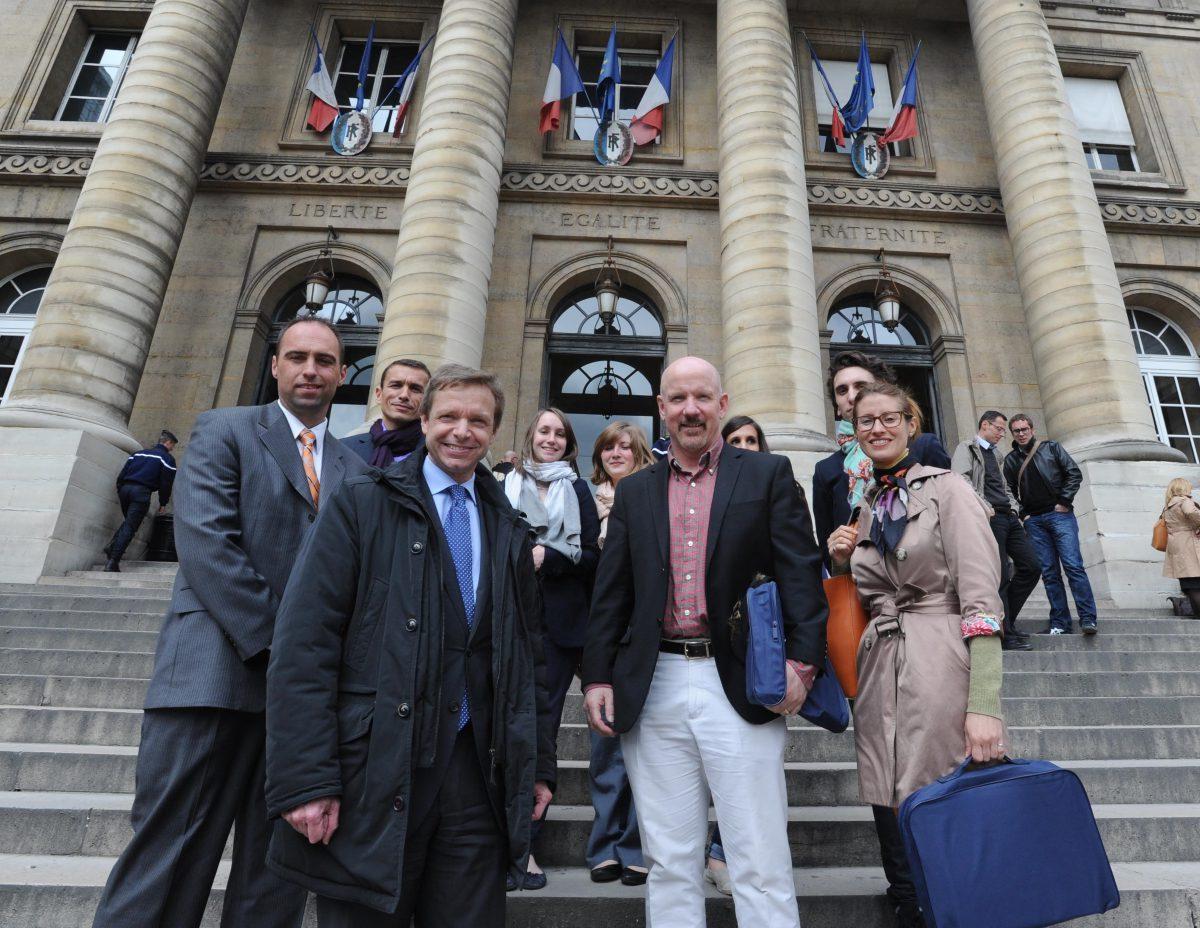Mark Sullivan and the representatives of the Police Judiciare at the Palais de Justice