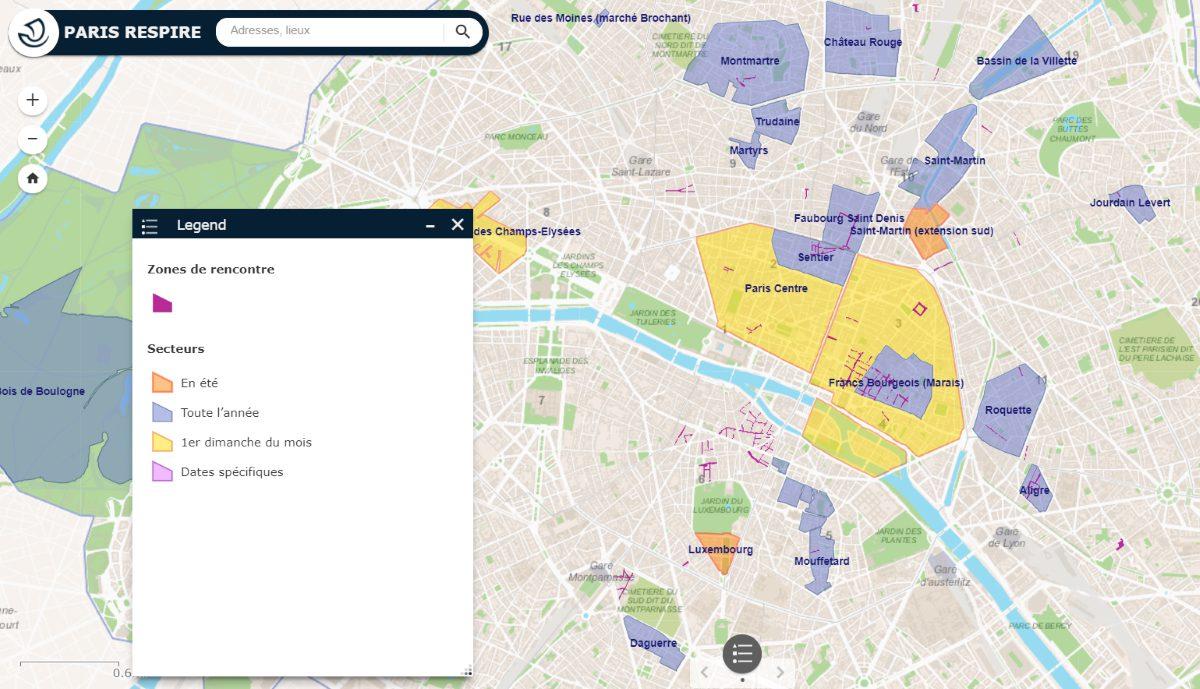 PAris Respire map