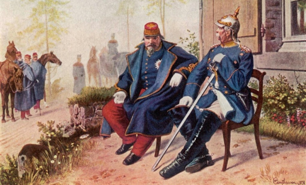 Painting of Bismarck and Napoleon III