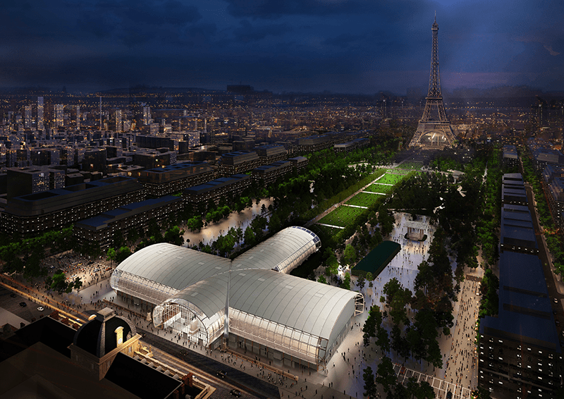 Artist rendering of the Grand Palais Ephémère