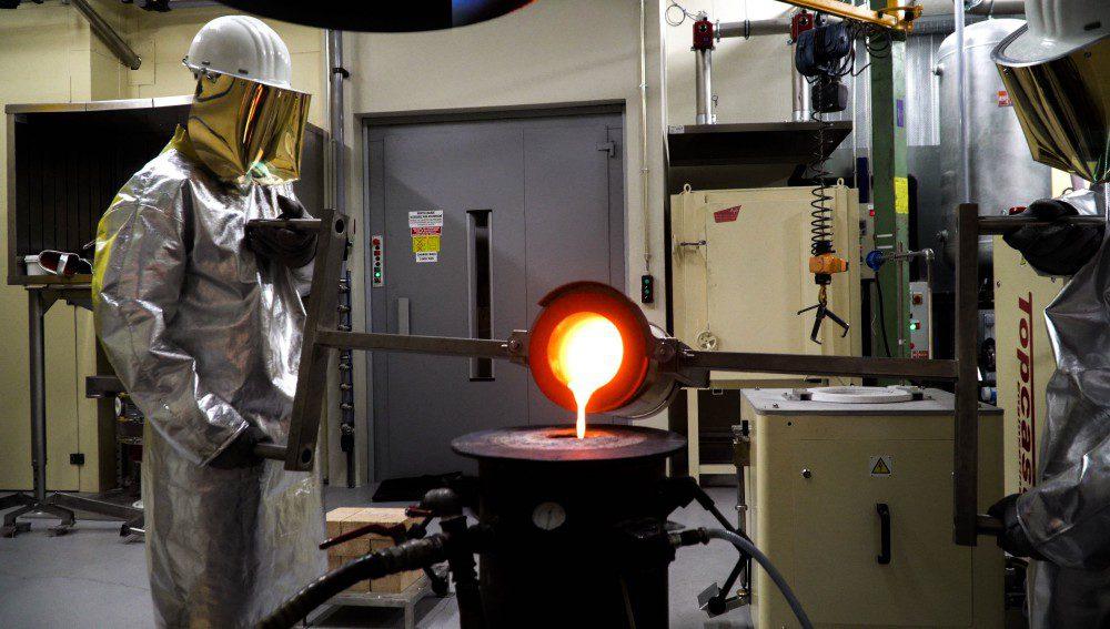 Smelting workshop at the Monnaie de Paris