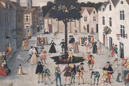 Painting of Medieval Paris