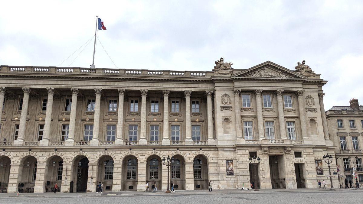 Facade of the Hôtel de la Marine