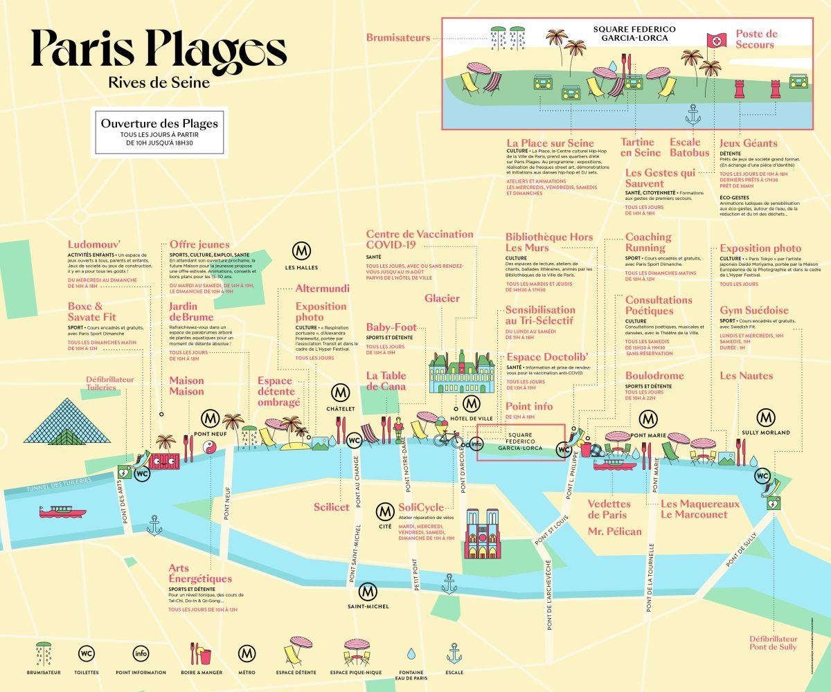 Paris Plage Map