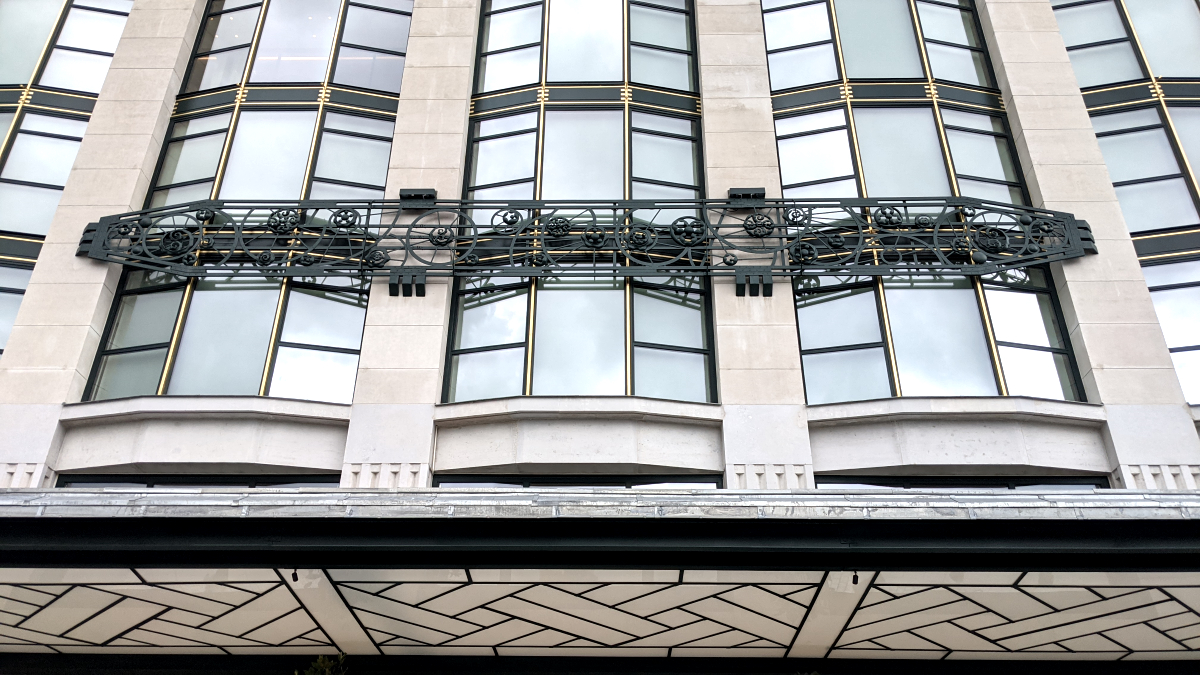Facade of hotel in former Samaritaine building.