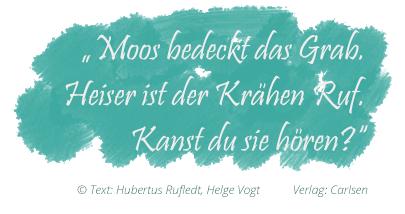 """Hubertus Rufledt, Helge Vogt: """"Alisik, Band 1: Herbst"""" (Zitat 2)"""