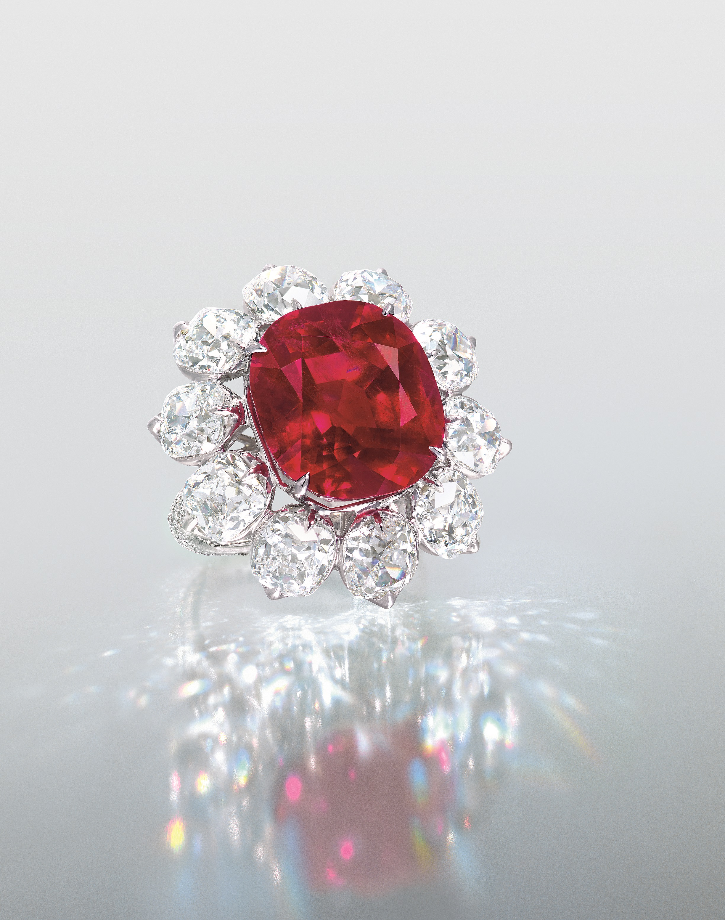 ring platinum engagement no gia diamond burma fine pigeon blood red cluster store ine rings ruby heat