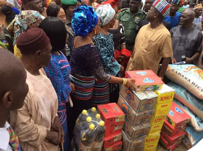 Mrs Osibanjo donating the cheap items
