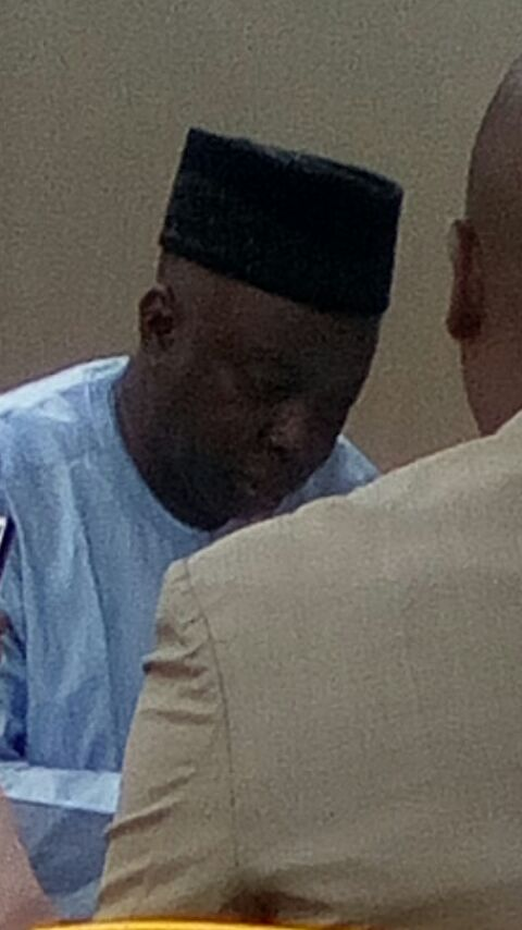 Akindele writing his statement in Force CID Headquarters