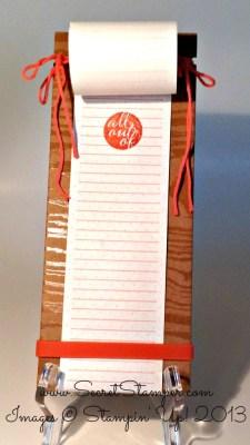 Paper Pumpkin List Holder
