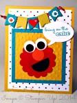By Debbie Mageed, Elmo, Punch Art, Birthday, Kids
