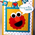 By Debbie Mageed, Elmo, Punch Art, Birthday, Kids