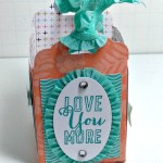 By Debbie Mageed, Love You More, Scallop Tag Topper Punch, Gift Bag