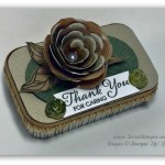 By Debbie Mageed, Upcycled crafts, Altoid Tin, Lots of Thanks, Spiral Flower Die, Peaceful Petals
