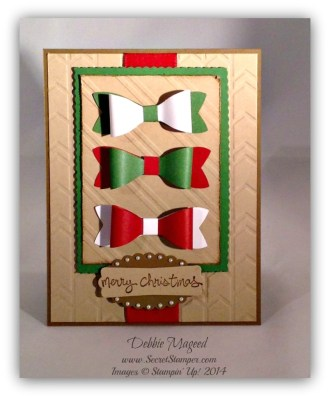 Holiday Card with the Bow Builder Punch