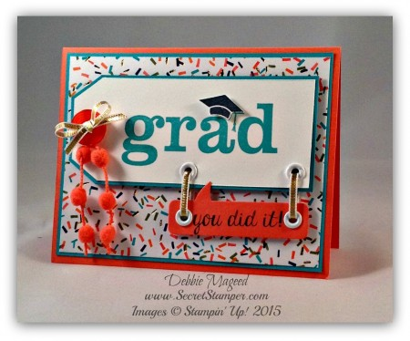 Bravo, Great Grads, Word Bubbles, Angled Tag Topper Punch