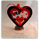By Debbie Mageed, Valentine, Gift Box, You Plus Me, Label Card Thinlits, Stacked with Love, Hearts Framelits, Stampin Up
