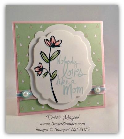 Mother's Love, Easel Card, Artisan Embellishment Kit, Mother's Day