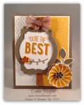 By Debbie Mageed, Friendly Wishes, Crazy about You, Cherry on Top, Stampin Up