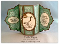 By Debbie Mageed, Wetlands, Trust in God, Fun Fold Card, Floral Framelits, Stampin Up