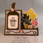 By Debbie Mageed, For All Things, Autumn Accents, Wonderfall, Side Step Card, Fun Fold, Stampin Up
