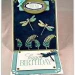 By Debbie Mageed, Awesomely Artistic, Happy Birthday Everybody, Easel Card, Emerging Color, Stampin Up
