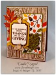 By Debbie Mageed, Lighthearted Leaves, Into the Woods, Autumn, Thanksgiving, Stampin Up
