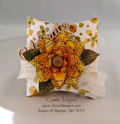 Autumn Square Pillow Box