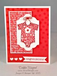 By Debbie Mageed, Made with Love, Stampin Up, Baby