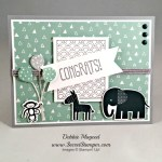 By Debbie Mageed, Zoo Babies, Sparkle & Shine, Party Wishes, Stampin Up