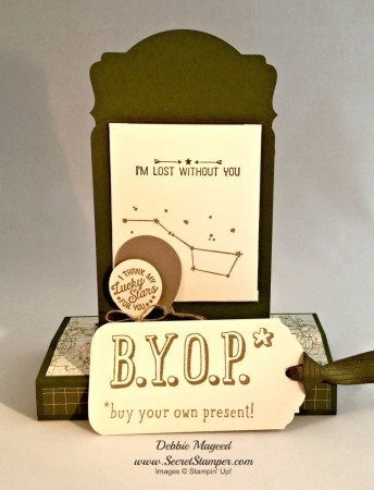 Going Global, Number of Years, B.Y.O.P., Stampin Up, Box Card, Fun Fold Card