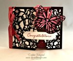 By Debbie Mageed, Floral Phrases, Detailed Floral Framelits, Butterflies, Wedding, Gate Fold, Fun Fold, Stampin Up