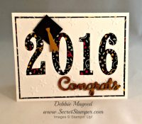 Large Numbers Framelits Are Essential for Great Graduation Cards