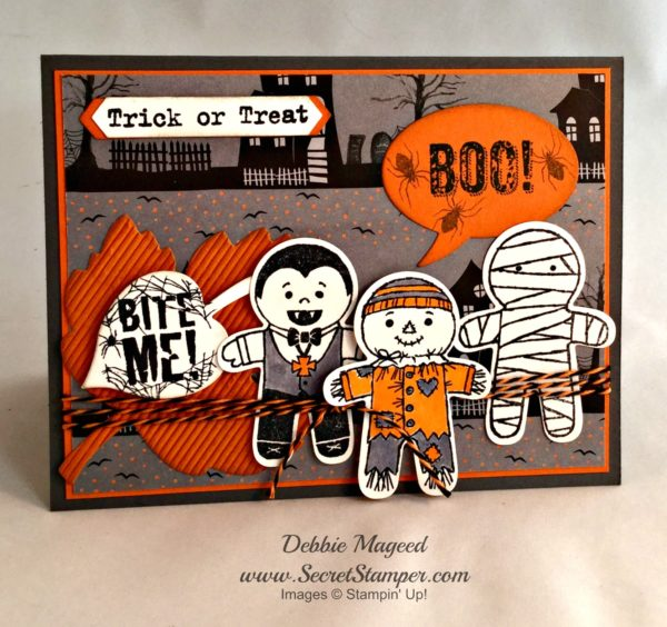 By Debbie Mageed, Cookie Cutter Halloween, Bite Me, Stampin Up, Halloween