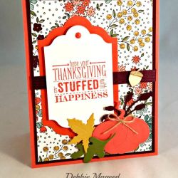 By Debbie Mageed, Mingle All the Way, Gratitude for Days, Stampin Up, Thanksgiving, Holiday, Makers Mart October Kit