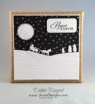 By Debbie Mageed, Sleigh Ride Thinlits, Calm Christmas, Spooky Fun, Winter, Holiday, Christmas, Canvas, Stampin Up