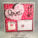 Stampin' Up! Sealed with Love Makes a FUN February Calendar