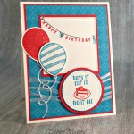 By Debbie Mageed, Any Occasion, Designer Tee, Balloon Adventures, Birthday, Festive Birthday, Stampin Up