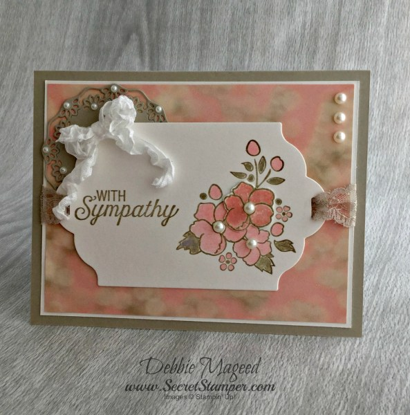 By Debbie Mageed, Bordering on Romance, Flourishing Phrases, Sympathy, Stampin Up