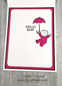 By Debbie Mageed, Moon Baby, Made with Love, Baby Card, Stampin Up