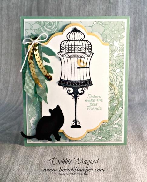 By Debbie Mageed, Builder Birdcage, Urban District, Balloon Celebration, Designer Tin of Cards, Birthday, Stampin Up