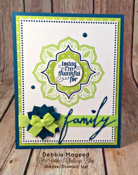By Debbie Mageed, Day of Gratitude, Gratitude for Days, Thanksgiving, Holiday, Stampin Up