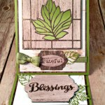 By Debbie Mageed, Truly Grateful, Lighthearted Leaves, Easel Card, Thanksgiving, Holiday, Stampin Up
