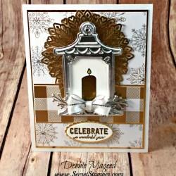 By Debbie Mageed, Labels to Love, Seasonal Lanterns, Christmas Pines, Lantern Builder Thinlits, Holiday, Christmas, Thanksgiving, Hanukkah, Stampin Up