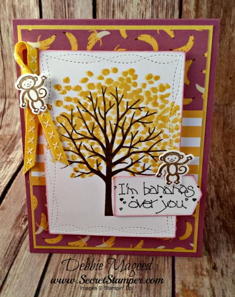 By Debbie Mageed, Sheltering Tree, Zoo Babies, Tutti Frutti, Stampin Up