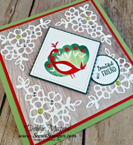 By Debbie Mageed, Beautiful Peacock, Petal Palette, Barn Door, Saleabration, Stampin Up