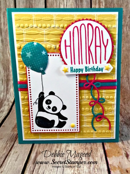 By Debbie Mageed, Party Panda, Confetti Celebration, Birthday, Saleabration, Stampin Up