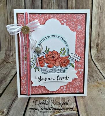 A Pretty Blossoming Basket Card for Cardz 4 Galz