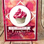Fun Birthday Card featuring #SweetCupcake, #Cupcakecutouts, #PaintedwithLove, #StampinUp, #SecretStamper